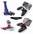 Clamp Cell Phone Clamp Smart Clip Holder Handle Bracket Support Stand for PS4 Playstation 4 DualShock 4 Controller+LED Sticker