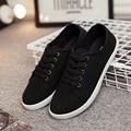 Blanco zapatos de lona bajos femeninos zapatos blancos para ayudar a la nueva marca de fábrica Coreana de los zapatos de las mujeres, Wenzhou, zapatos de lona del otoño