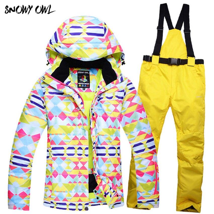 2017 vente Chaude d'hiver femelle ski vestes femmes manteau de ski snowboard veste ski costume des femmes de neige porter veste Z