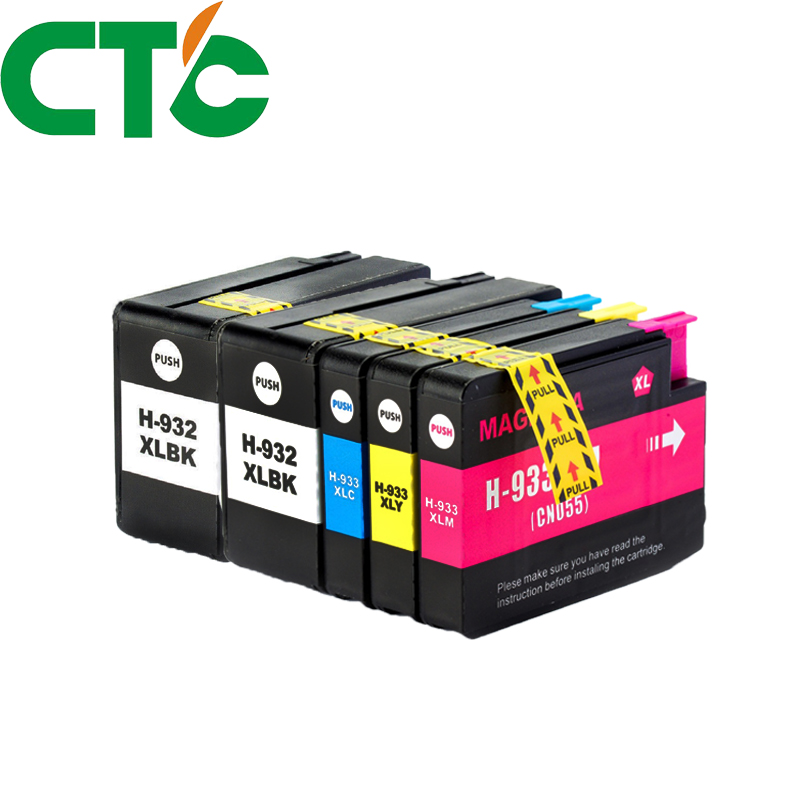 <font><b>5</b></font> Pack Compatible Ink Cartridge Replacement for 932 933xl for Officejet 6100 <font><b>6600</b></font> 6700 7110 7610 7612 H611a H711a H711n image
