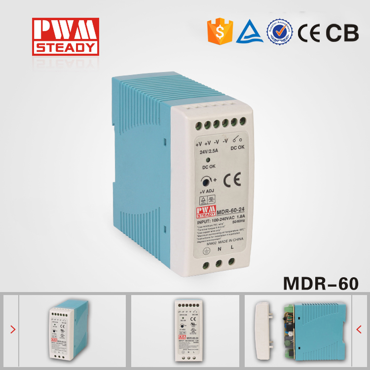 MDR-60W CE 12v 5a power supply circuit for led light Slim DIN Rail Switching Power low price direct sale din rail smps mdr 60 12 mdr series 12v 5a 60w ce switching power supply for led strip light lamp