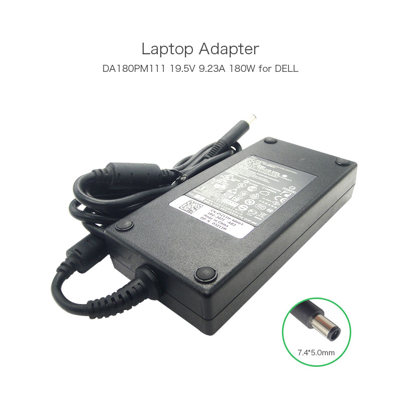 buy 180w ac adapter 19 5v da180pm111 portable laptop charger for dell. Black Bedroom Furniture Sets. Home Design Ideas