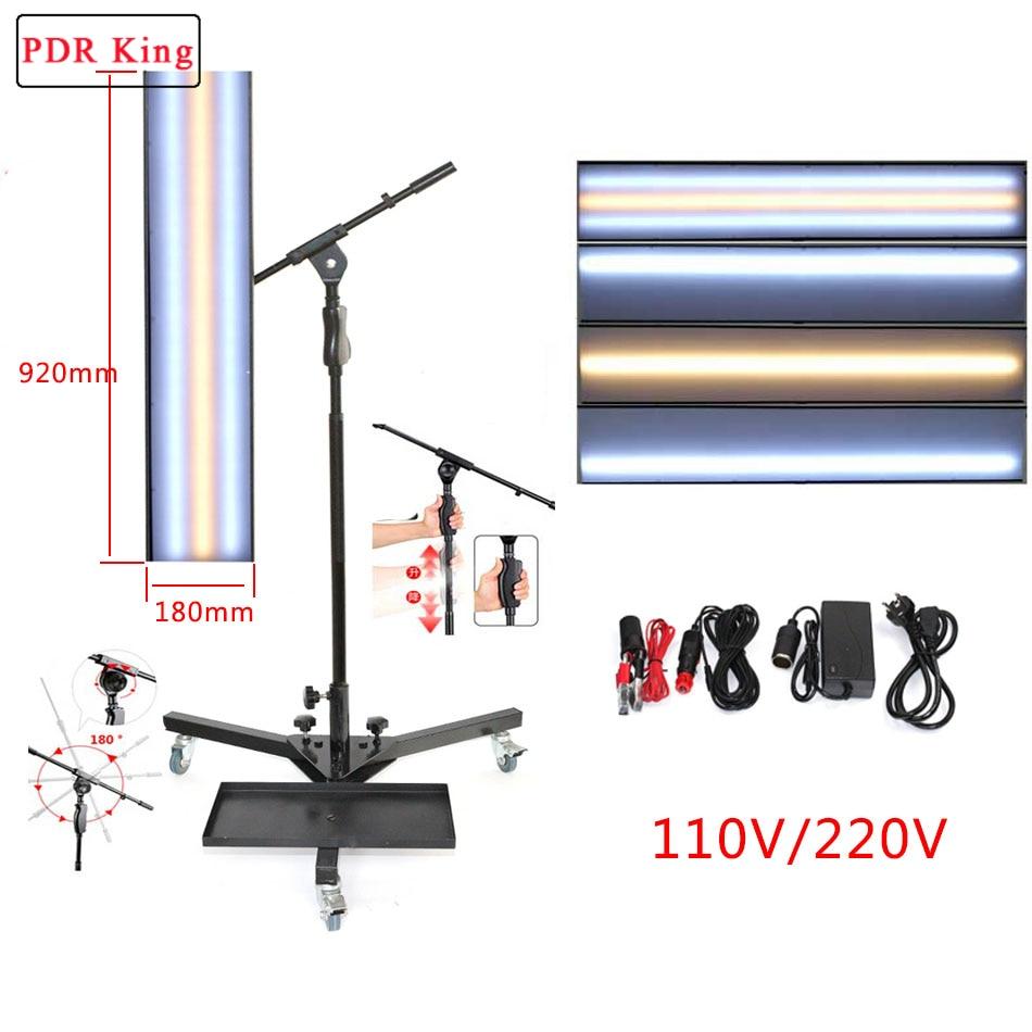 Panneau de ligne de bande PDR Kit d'outils de réparation de Dent sans peinture lampe réfléchissante Borde 12v panneau de lampe PDR