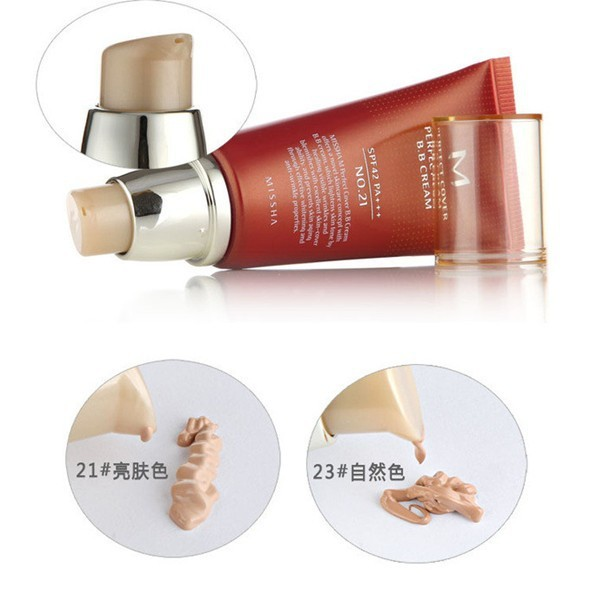 Makeup Missha M Perfect Cover BB Cream #21 #23 Face Concealer Sunscreen Skin Whitening Cream Concealer SPF42 PA+++ 50ML