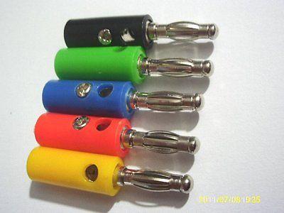 2500 PCS 5 Color 4mm banana plug FOR Power Amplifiers Binding Post смеситель для ванны zenta о нест с аксессуарами z0503