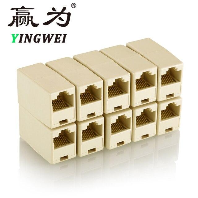RJ45 соединитель Ethernet двойной прямой головкой Lan Кабельный соединитель RJ45 CAT 5 5E 6 6a 7 Удлинитель сетевой кабель Разъем