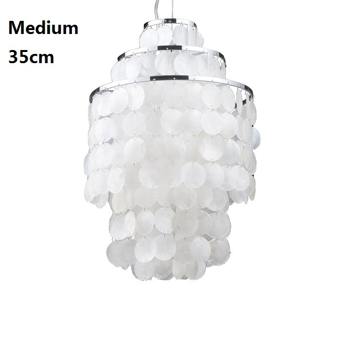 Natural Shell Dining Room Pendant Lamp White Contemporary Light Fixtures Lampen Art Suspension Luminaire 110 220V Home Lighting