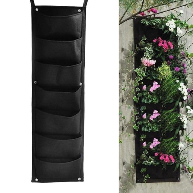 New Arrival 7 Pocket Hanging Vertical Garden Planter Indoor Outdoor  Wall Mounted Herb Pot Decor