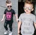 T-Shirts Toddlers Children Baby Boys Kids Clothing Tops T-shirt Short Sleeve Cotton Shorts Gray Black Casual Tops Summer 2-7Y