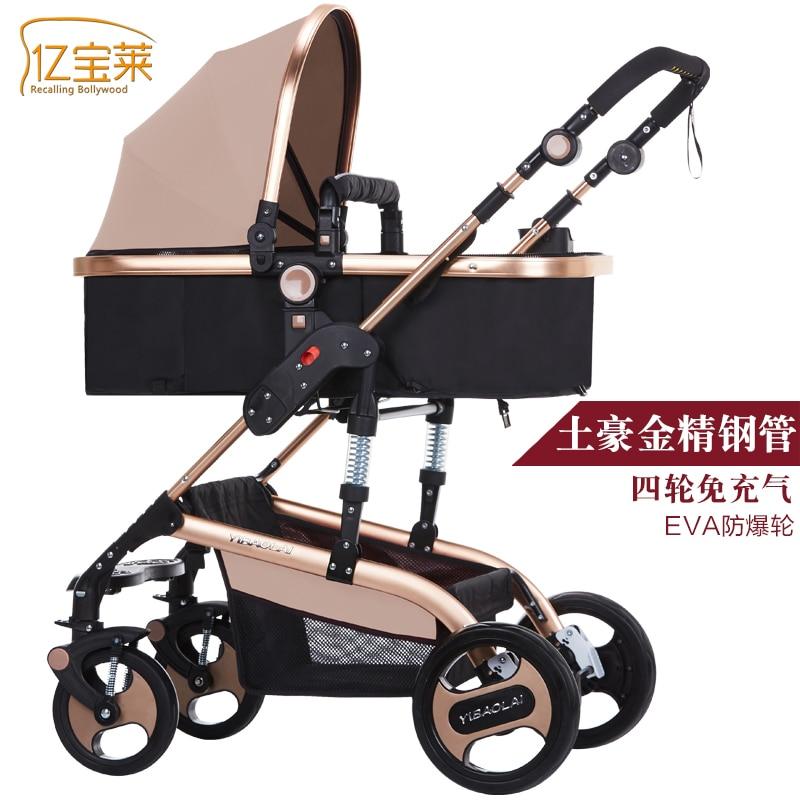Brands baby stroller 3 in 1 stroller for children car poussette buggy umbrella stroller two-way baby trolley bebek arabas