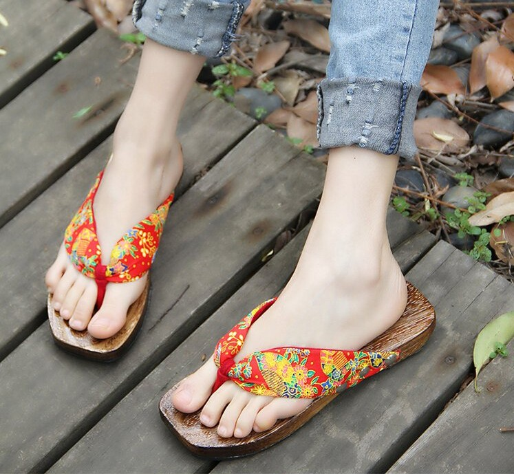 Japanese Fashion Wooden Clogs
