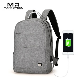 Image 2 - Mark Ryden New Arrivals Usb Recharging Anti thief Backpack Waterproof Two Size Fashion Portable Bag Male