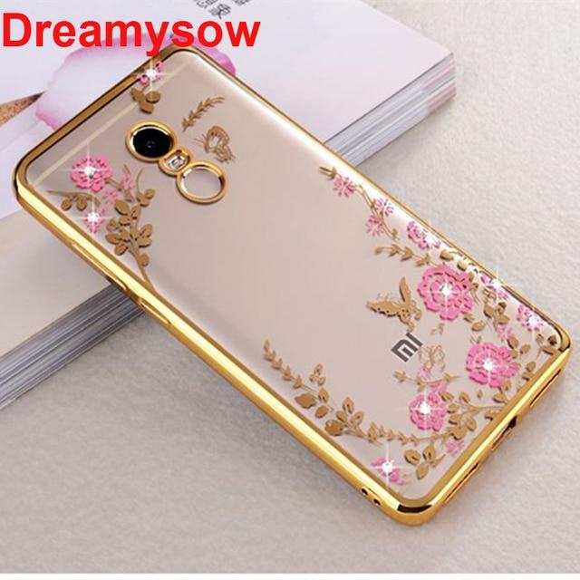 Untuk Xiao Mi Mi A2 Lite Merah Mi Note 7 6Pro 5Pro 5A PRO 6 6A 4 Global 4X 4A 4Pro 5 Plus Bunga Bling Diamond Lembut TPU Silicone Cover
