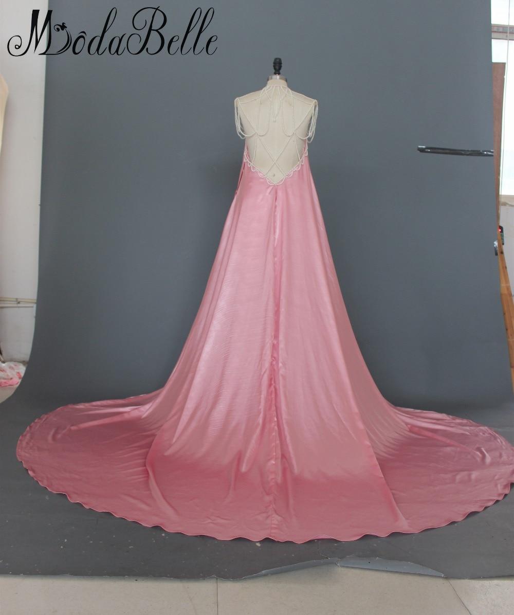 Diseñador de Perlas Vestido Largo Tren Vestidos de Noche Para Las ...