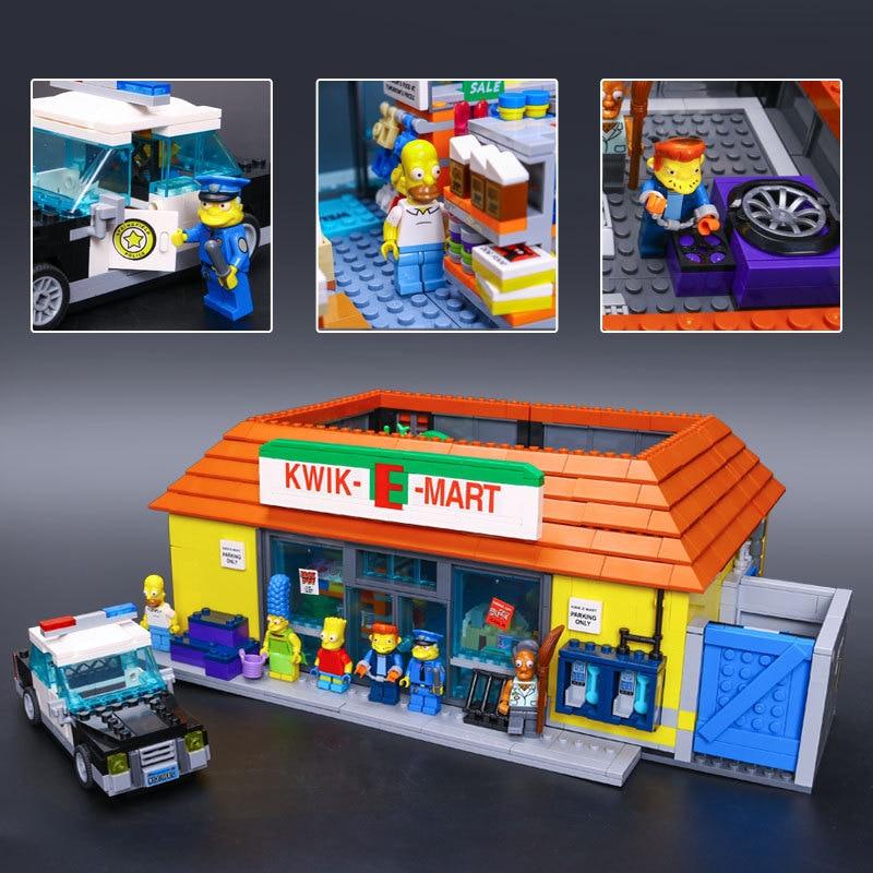 DHL 16004 film jouets les 71016 Simpsons kwik-e-mart blocs de construction ensemble briques Kits cadeau Clone jouets pour enfants cadeau de noël - 2