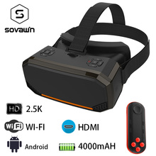 Sovawin H3 All in One VR Headset 3D Smart Glasses Virtual Reality Goggles VR Helmet 2K WIFI HDMI Video  with Controller