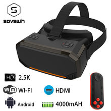 Sovawin H3 All in One VR Headset 3D Smart Glasses Virtual Reality Goggles VR Helmet 2K WIFI HDMI Video with Controller(China)