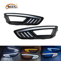 Okeen High Quality Waterproof 12V LED DRL For Ford Foucs 2015 2016 White Blue Yellow Daytime