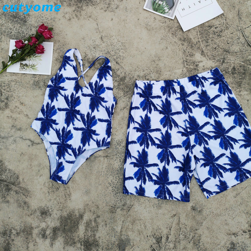 Mother Daughter Father Son Swimsuits Blue Family Look Mom And Daugher Daddy Parent Child Bikini Bathing Swimwear Summer Clothes (49)