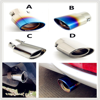 Stainless 304 Steel Car Exhaust Muffler Tip cover pipe Tail For BMW 530Li 335i 750i 330i 325i 320si 630i X6 M6 640i 640d image