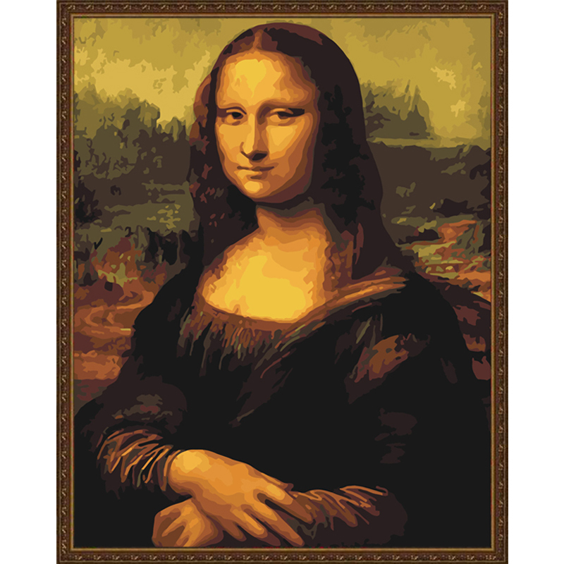 Image result for Mona Lisa Diy Frameless Pictures Painting By Numbers On Wall Acrylic Painting Unique ... - 40 50CM