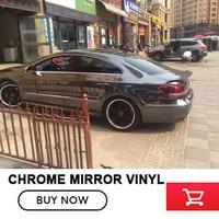 OPLARE 1 52x20m Stretchble Grey Chrome Mirror Vinyl Wrap Chrome Car Wrap Flexible For Any Vehicle