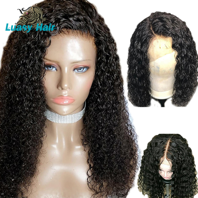 360 Lace Frontal Wig 250 Density Curly Lace Front Human Hair Wig For Black  Women Pre Plucked 22.5