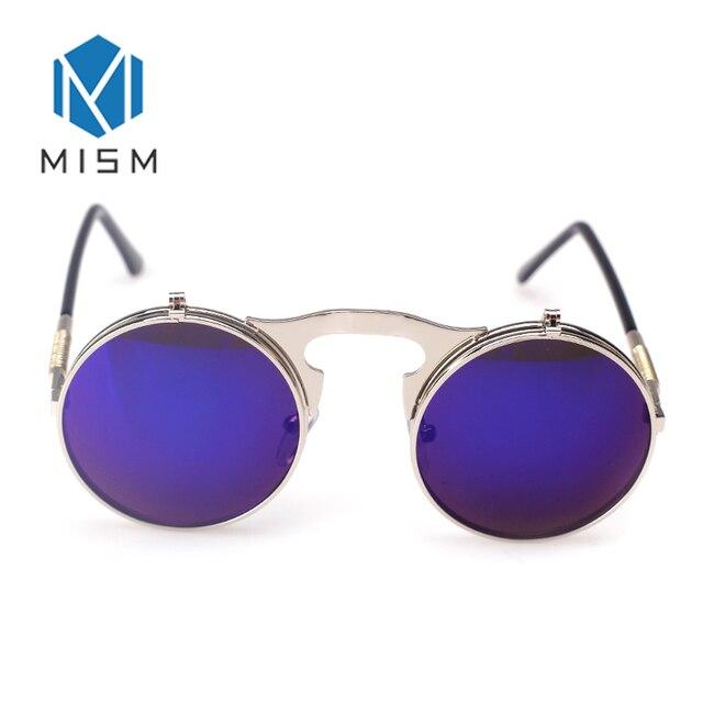 MISMO Homens Mulher Óculos De Sol Da Moda Rodada Do Punk Do Revestimento  Preto Quadro Óculos c4c52cf629
