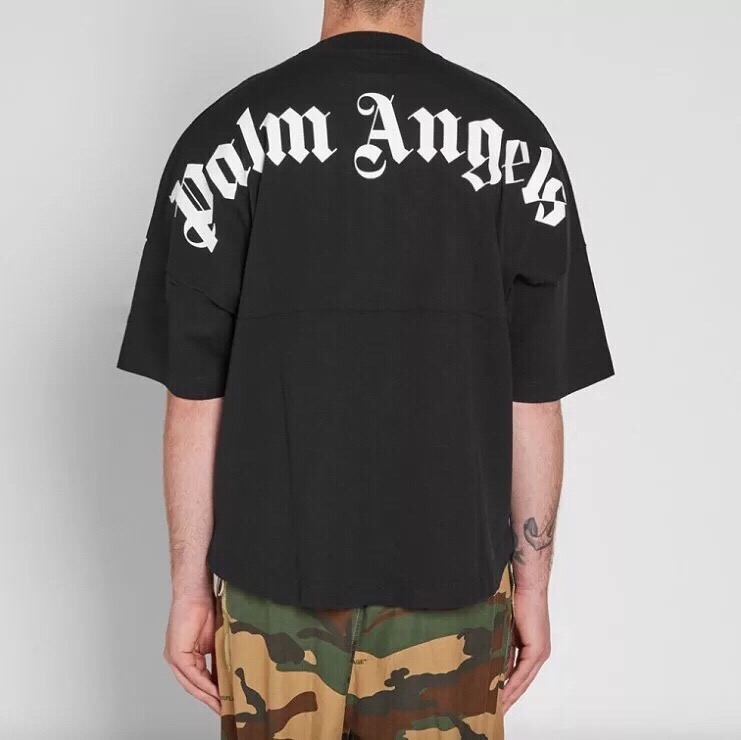 19SS Palm Angels T Shirt Women Men Top Version 1 1 Palm Angels Big Letter Printing Top Tees Casual Oversized Palm Angels T Shirt in T Shirts from Men 39 s Clothing
