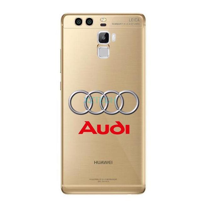 BMW Audi Benz Car logo Fundas Tup Case For HUAWEI p9 lite Mate 8 P9 plus Transparent soft clear slim silicone Tpu Phone cover