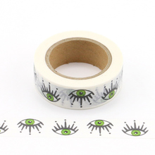 1X  Let's Go Travel with green eyes Washi Tape Adhesive Tape DIY Scrapbooking Sticker Label Masking Tape office supply