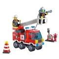 Combinaciones diferentes!! 130 unids/set Camión de Bomberos Lucha DIY Bloques de Construcción de Juguetes Educativos Del Rompecabezas para Niños Regalos de Cumpleaños