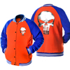 2017 Funny Streetwear Hoodies Hip Hop Sweatshirt The Punisher Skull Harajuku Baseball Jacket Long Sleeve Brand