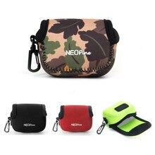 Taşınabilir neopren kamera çantası durumda Sony cyber shot için RX0 DSC RX0 rx0 RX0M2 RX0II spor eylem kamera kılıfı kapak