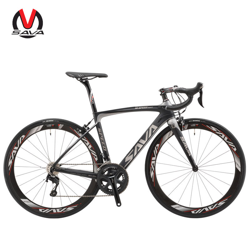 Road Bike T800 Carbon Fiber Frame / 50MM Wheelset / Fork/ Handlebar/ Headset/ Seatpost with SHIMANO 22 Speed 105 5800
