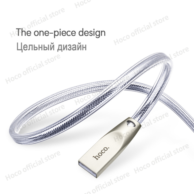 HOCO Original Zinc Alloy Jelly Knitted Charging Cable for Apple Lightning to USB Metal Charger Sync Data for iPhone iPad iPod 3