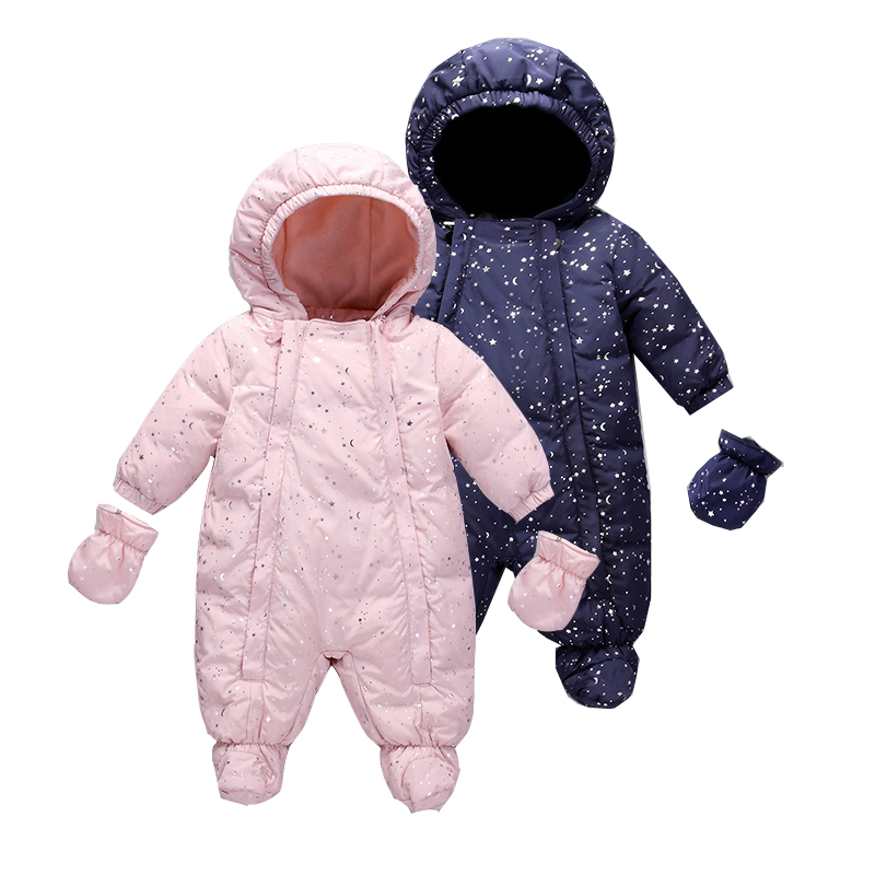2019 New Style Design For Baby Girls   Rompers   Winter Pink Star Fleece Long Sleeves Children Clothing Jumpsuits One Piece 4 Color