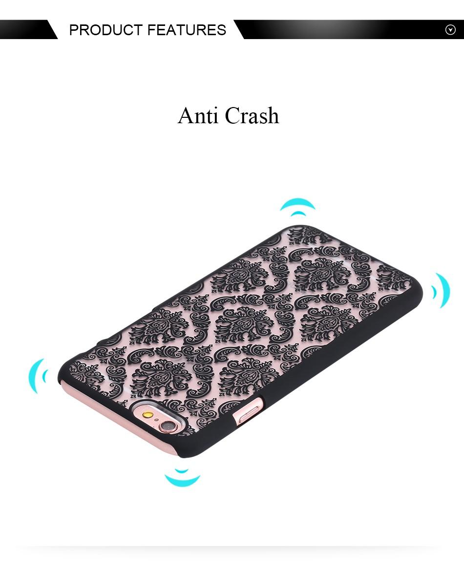 Kisscase retro elegancki wzór case dla iphone 6 6s plus samsung galaxy s7 edge s6 krawędzi uwaga 4 5 samsung e5 e7 a3 a5 a7 a8 j5 j7 4