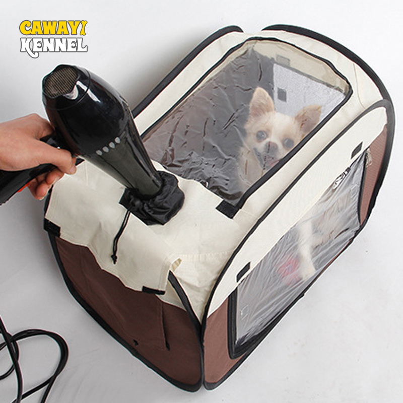 CAWAYI KENNEL Pet Dog Transport Bag Box Travel Dog Carriers Drying Hair Box Carrying For Small