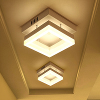 9w LED Ceiling Lights iron acrylic High brightness for Bathroom corridor aisle Lamps home lighting fixtures support AC90 265v