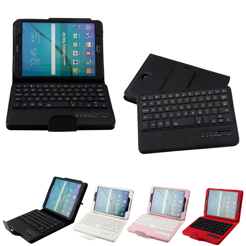 New Hot Tablet Cover Detachable Bluetooth Keyboard + PU Stand Case for Samsung galaxy Tab S2 8.0 inch Gift Great Deals new detachable official removable original metal keyboard station stand case cover for samsung ativ smart pc 700t 700t1c xe700t