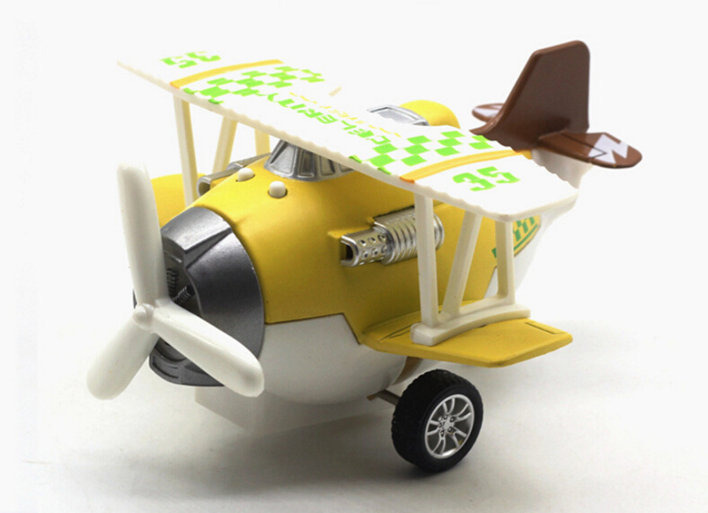 Feichao 1:72 Alloy Glider Model Toy Light & Sound Carton Airplanes <font><b>Diecast</b></font> Pull Back Child Boys Toys 12*11*7cm image