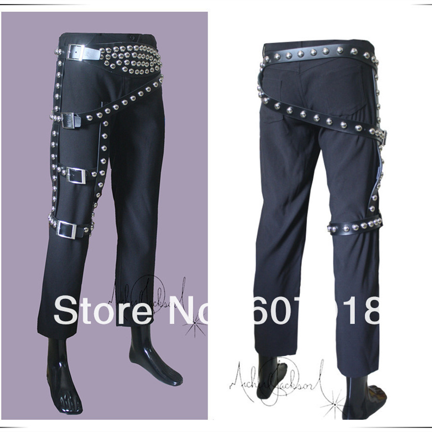 30cf228ff72 MJ Michael Jackson BAD JAM Classic Leg Belt Punk Rivet Metal for Performance  Show -in Men s Belts from Apparel Accessories on Aliexpress.com