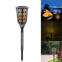 أضواء الشمسية تيكي الشعلة بقيادة حديقة فناء مصباح للماء الرقص اللهب الإيماض 96 led أضواء الديكور ip65