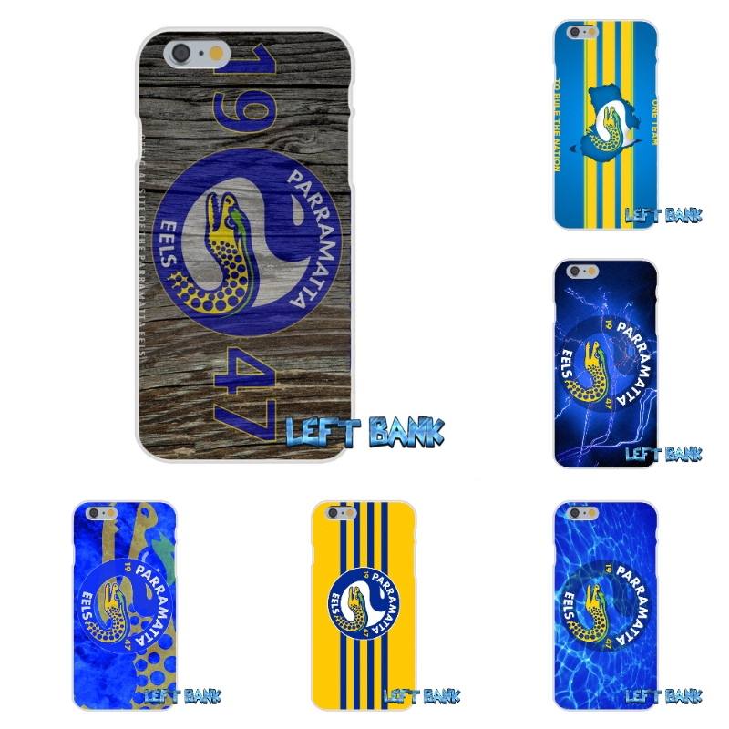 For iPhone 4 4S 5 5S 5C SE 6 6S 7 Plus Nrl Parramatta Eels Soft Silicone TPU Transparent Cover Case