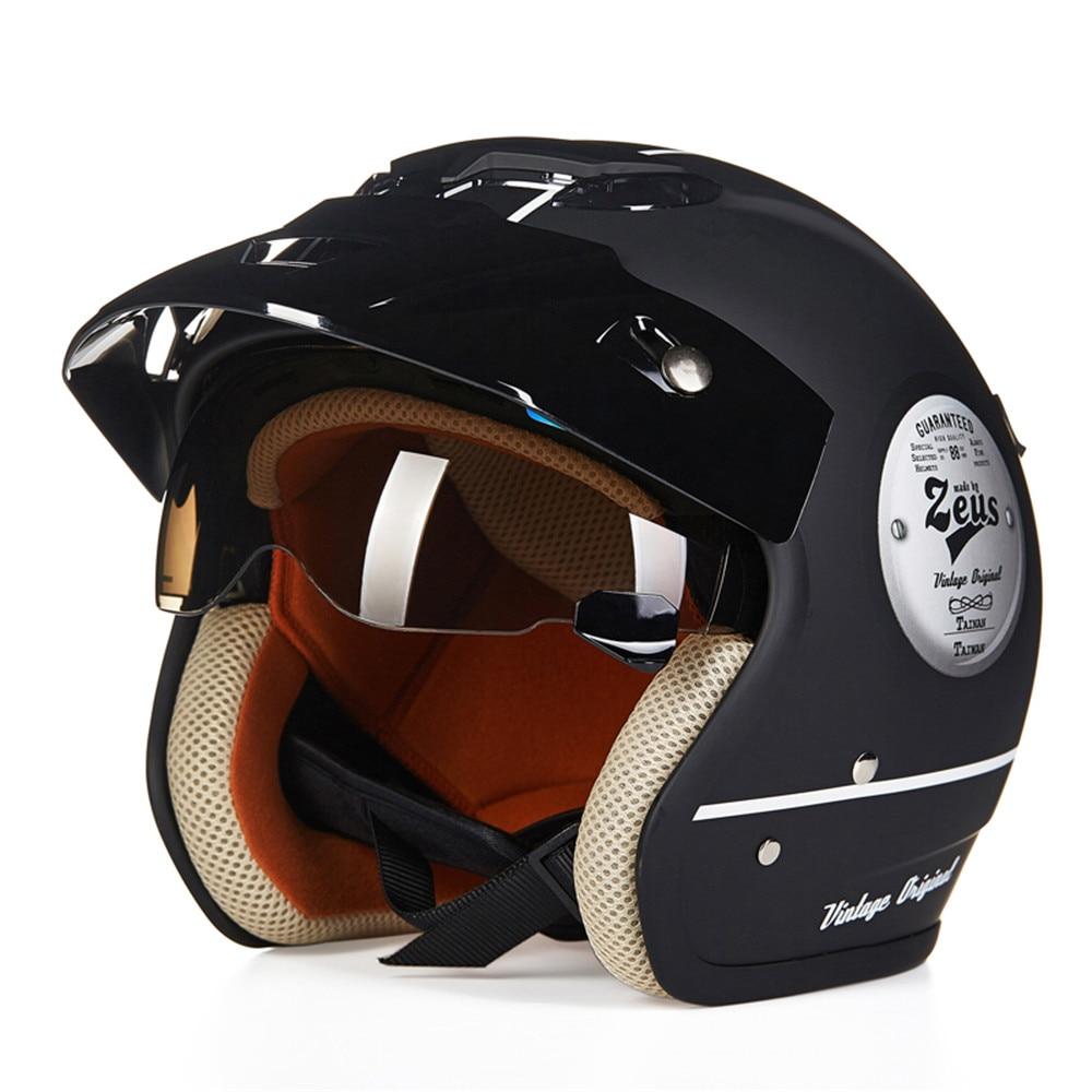 Motorcycle Helmet Retro Cruiser Chopper 3/4 Open Face Vintage Helmet 38141 Moto Casque Casco motocicleta Capacete Pilot helmets