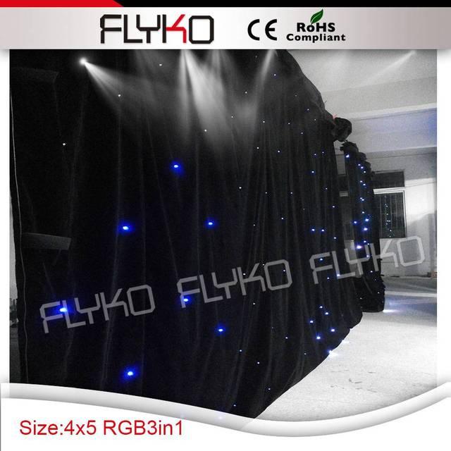 Envío gratis RGB 4 M ancho by 5 M alta led cielo estrellado luz