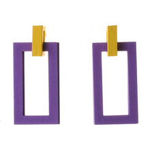 New Wood Earrings Bohemian Geometric Colored Wood Earrings 2 Colors цена