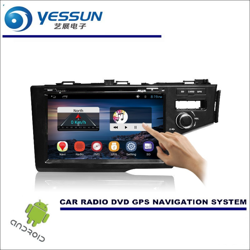 YESSUN For Honda Fit / Jazz 2014~2016 RHD Car DVD Player GPS Navi Navigation Android System Radio Stereo Audio Video Multimedia yessun for mazda cx 5 2017 2018 android car navigation gps hd touch screen audio video radio stereo multimedia player no cd dvd