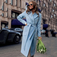 Winter And Autumn Fashion New Lapel Long Sleeves Solid Color Plush Long Ladies Coat Casual Women'S Clothing Female Wool Coat